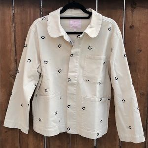 Smiley Work Jacket by ban.do - never worn! Khaki!